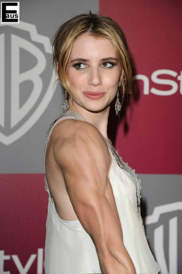 Photoshop transforma celebridades em mulheres super musculosas