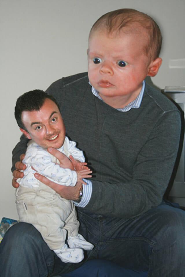 20 Trocas de faces bizarras e engraçadas de pais e filhos