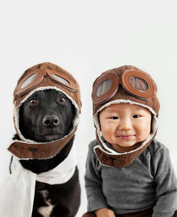 29 Imagens que provam que os cães são os melhores amigos das crianças