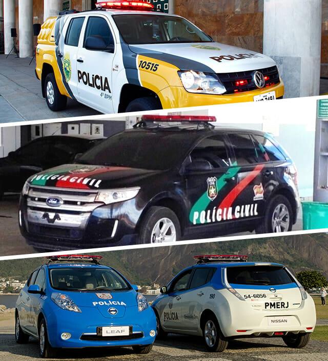 Carros de polícia do Brasil