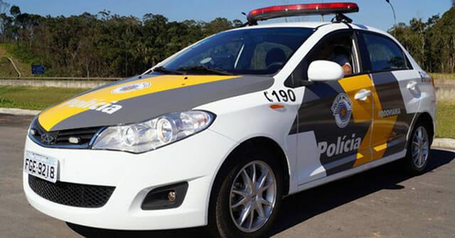 Carro Polícia Rodoviária São Paulo