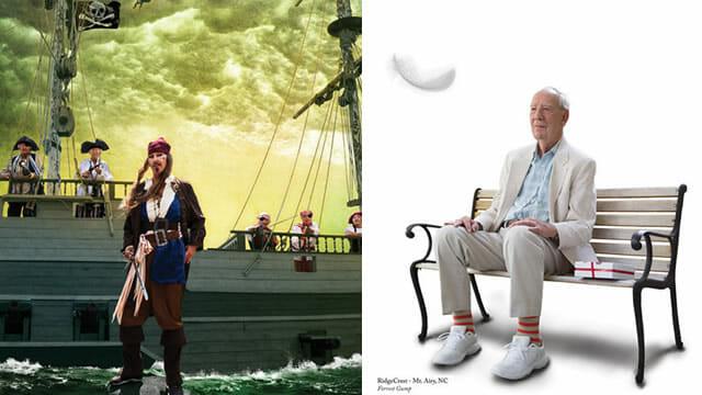 Série de fotos superlegal feita com idosos recria cenas de filmes e capas de bandas