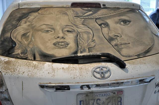 15 Desenhos sensacionais feitos em carros empoeirados