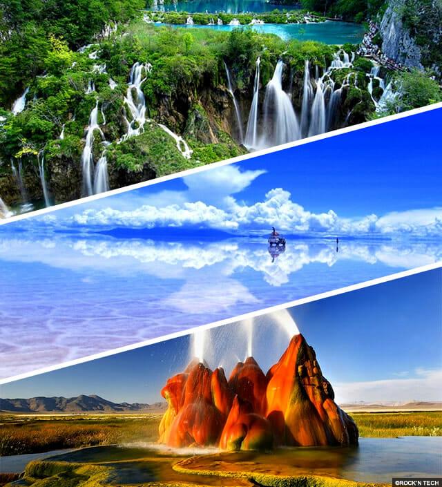 lugares incríveis do planeta terra