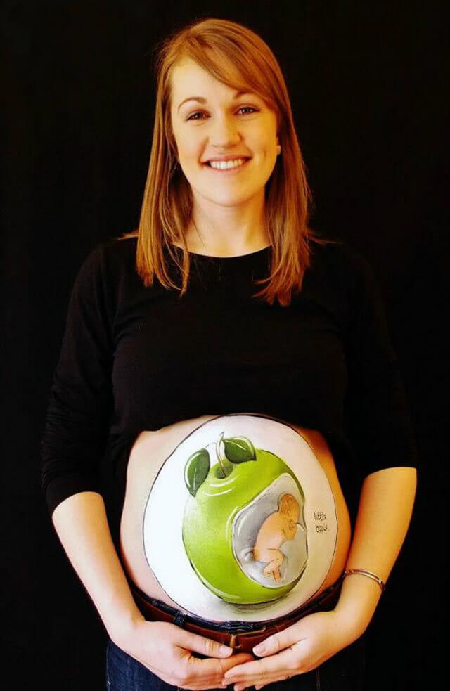Artista faz desenhos incríveis em barrigas de grávidas