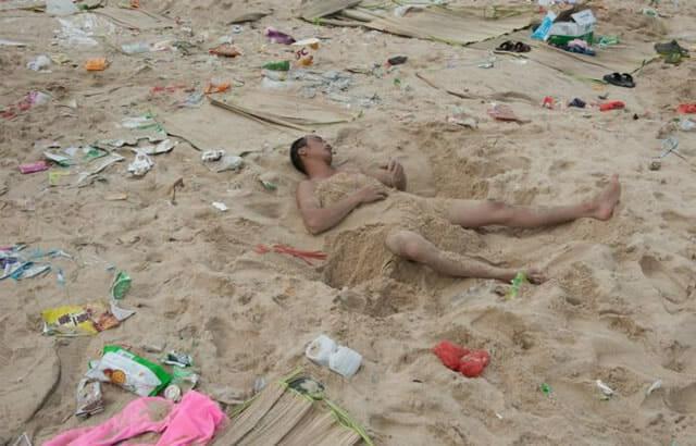 Mar de lixo: 16 Imagens chocantes mostram as condições das praias na China