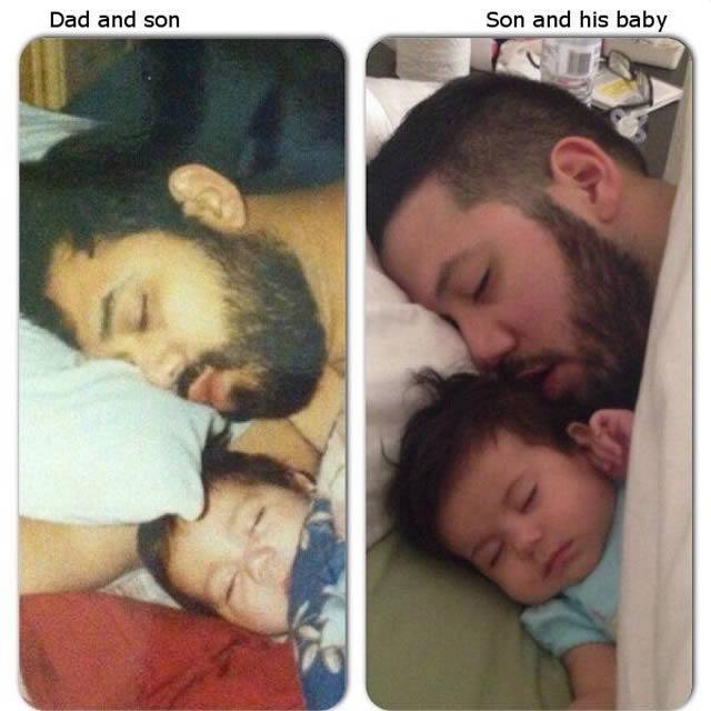 Tal pai tal filho! 20 Fotos de filhos que são super parecidos com seus pais