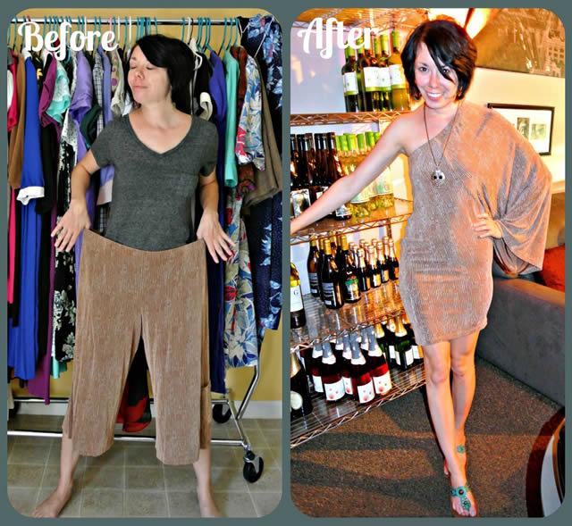 Blogueira transforma roupas usadas antigas em vestidos modernos. Veja 18 Antes e Depois: