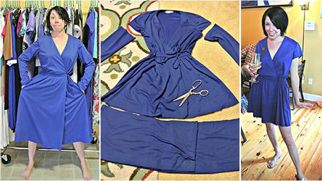 Excepcional Blogueira transforma roupas usadas antigas em vestidos modernos  HB89