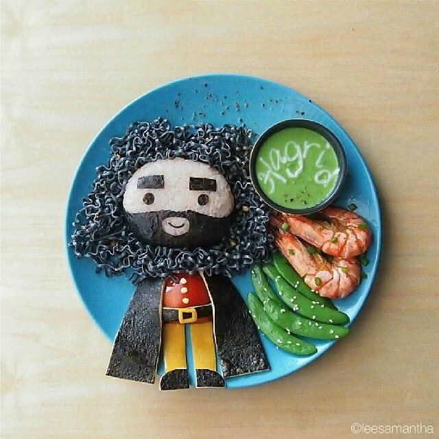 22 Retratos de celebridades e personagens famosos feitos com comida