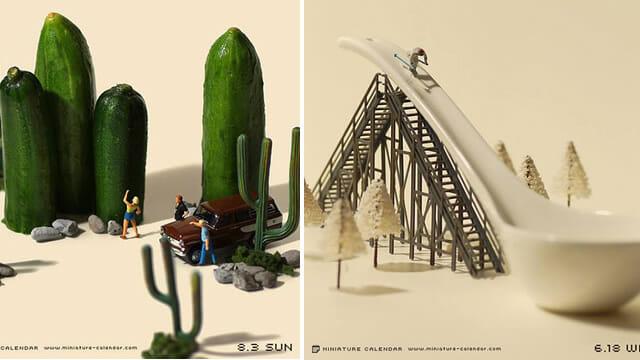 24 Cenários incríveis feitos com miniaturas de humanos, objetos e alimentos