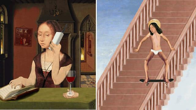 10 Gifs bizarros e engraçados baseados em pinturas renascentistas