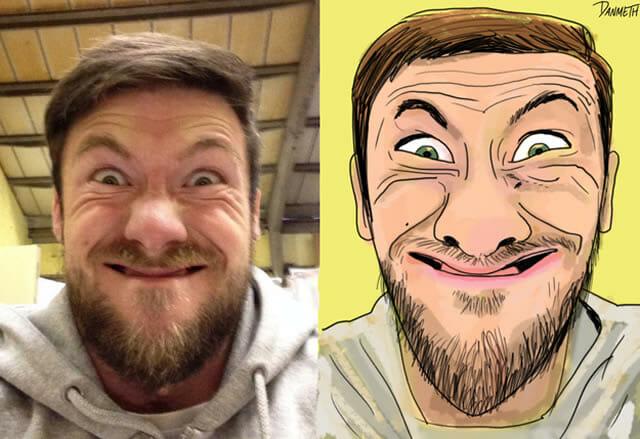 15 Selfies horríveis transformados em caricaturas engraçadas