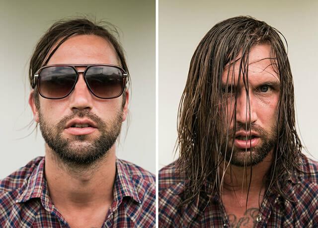 7 Imagens curiosas mostram músicos antes e depois de suas apresentações