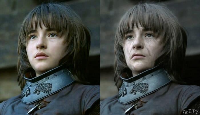 Antes e depois mostra como ficariam 11 personagens de Game Of Thrones se envelhecessem