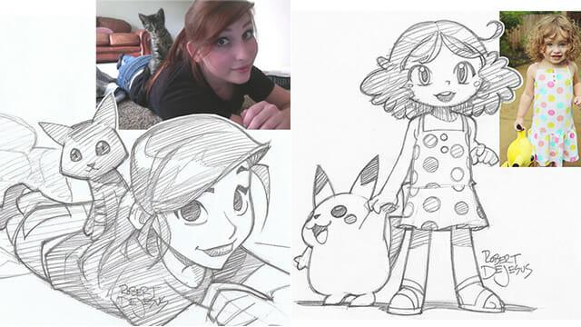 Artista transforma pessoas comuns em personagens de anime (13 Fotos)
