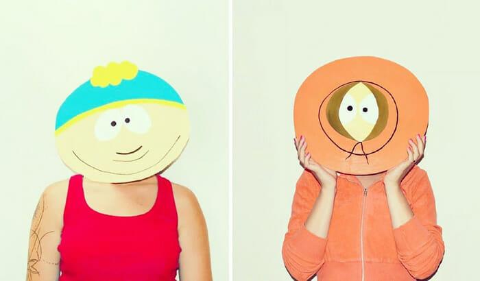365 Masks Project: Mulher cria máscaras engraçadas e tira fotos criativas com elas