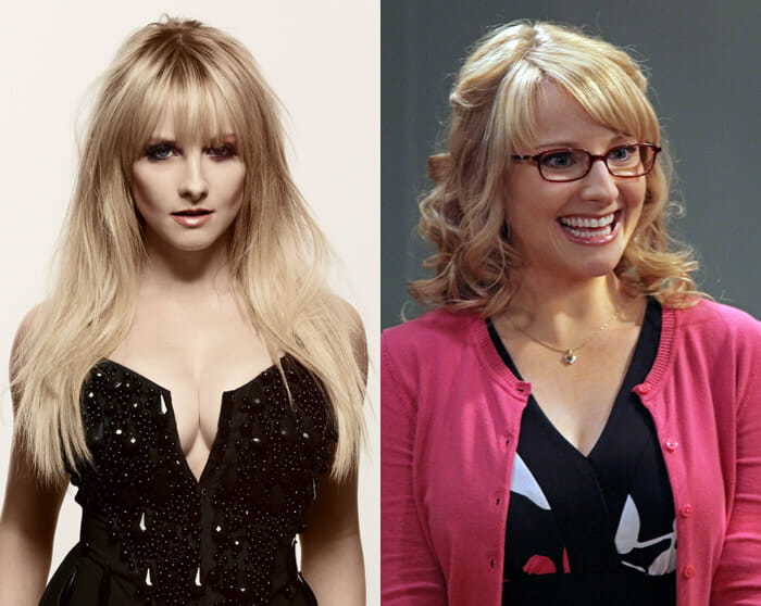 "Melissa Rauch como Bernadette em ""The Big Bang Theory"""