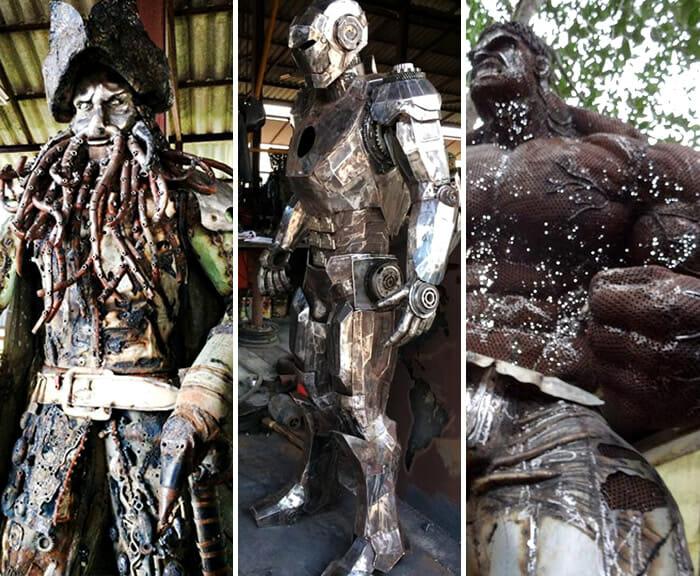 esculturas-fantasticas-sucata-metal