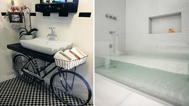 14 Ideias brilhantes de decoração para banheiros  ROCKN TECH -> Ideias Criativas Para Armario De Banheiro
