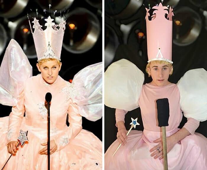 15 Fotos engraçadas do rapaz que se transforma em celebridades usando figurinos alternativos