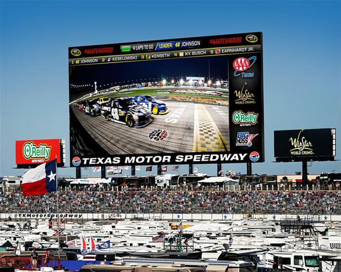 Texas Motor Speedway display screen