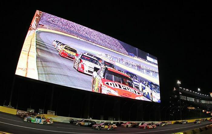 Charlotte Motor Speedway display screen