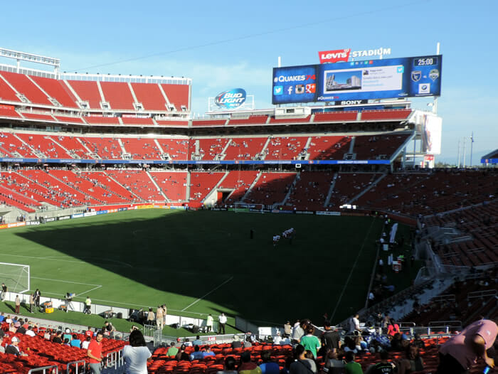 Levi's Stadium display screen