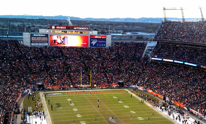 Sports Authority Field display screen