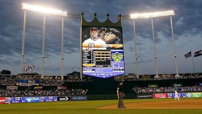 Kauffman Stadium display screen