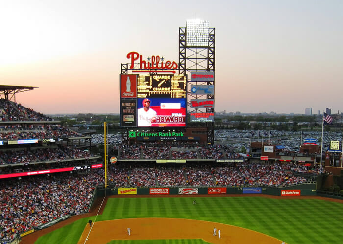 Citizens Bank Park display screen