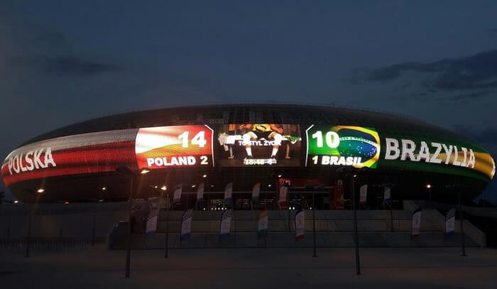 Kraków Arena display screen