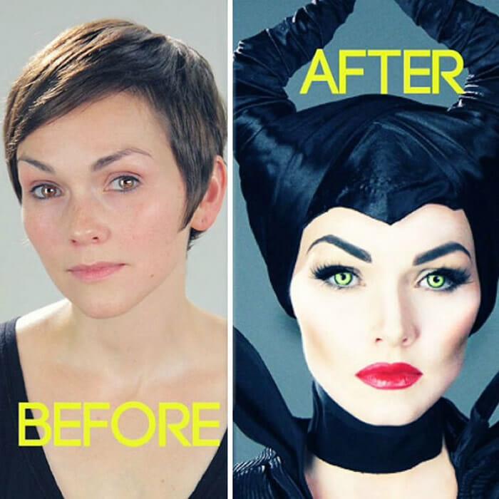 Maquiadora faz maquiagens incríveis e se transforma em personagens famosos