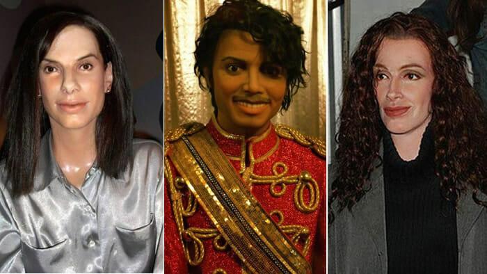 25 Estátuas de cera de celebridades tão horríveis que você vai ficar com medo