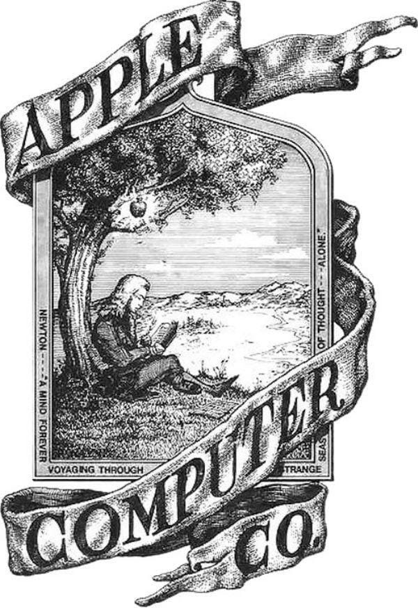 logotipo antigo apple