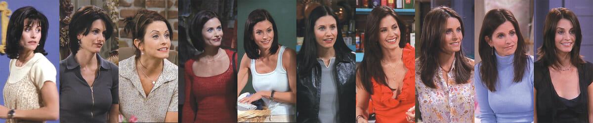 Os diversos looks dos personagens de Friends em todas as temporadas