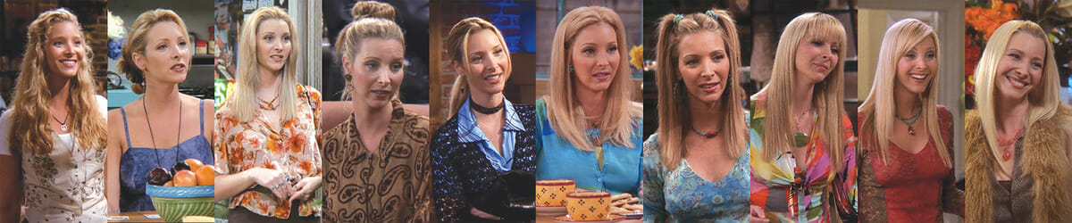 Os diversos looks dos personagens de Friends em todas as temporadas