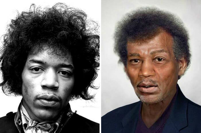 Jimi Hendrix atualmente teria 72 anos de idade se não tivesse morrido de overdose.