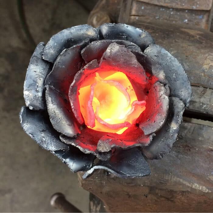 Flor de metal