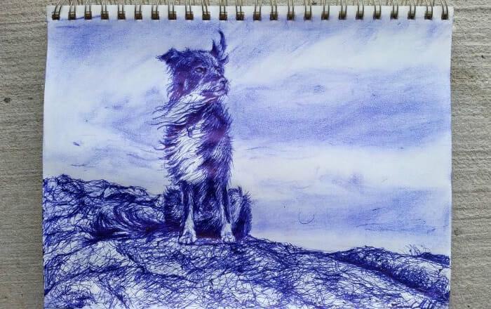 Pintura com caneta