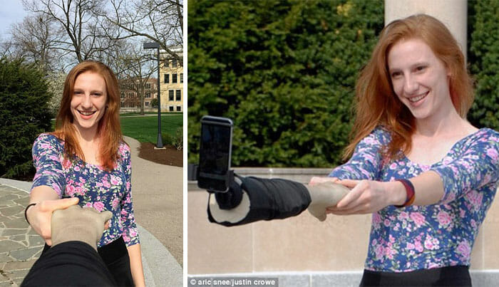 """O braço de selfie é indicado aos """"solitários"""" que adoram tirar selfies"""