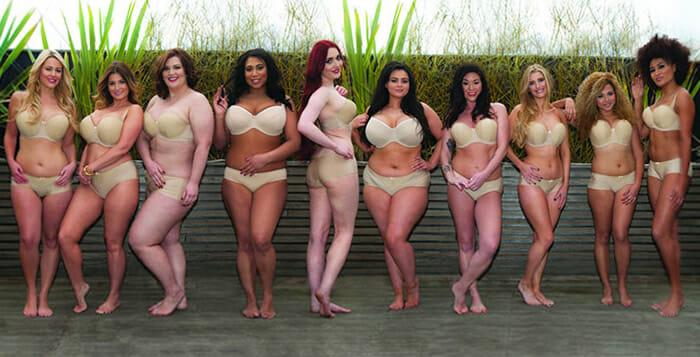"""Aproveitando a oportunidade, a Curvyn Kate lançou a sua campanha com modelos """"normais"""""""