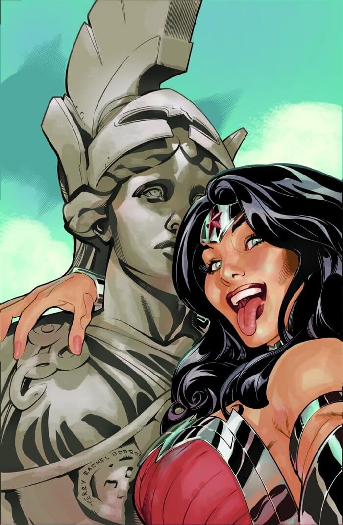 ilustracoes-super-herois-dc-comics-tirando-selfie_19