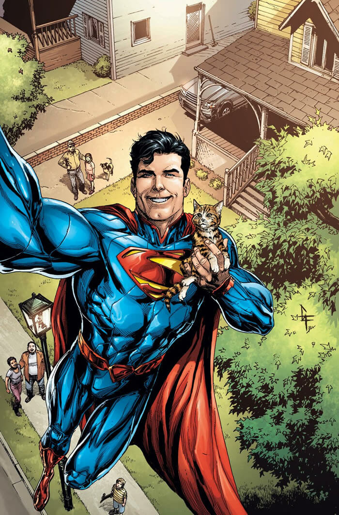 ilustracoes-super-herois-dc-comics-tirando-selfie_2