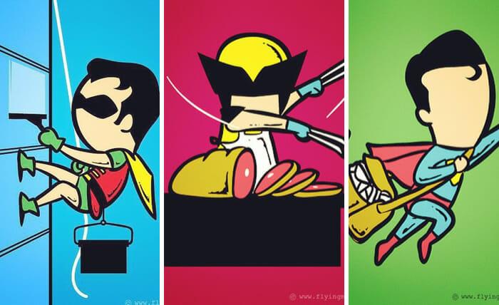 super-herois-trabalhando