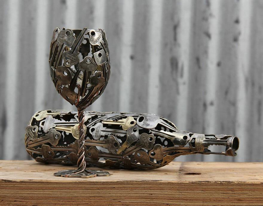 esculturas-chaves-moedas-recicladas_6