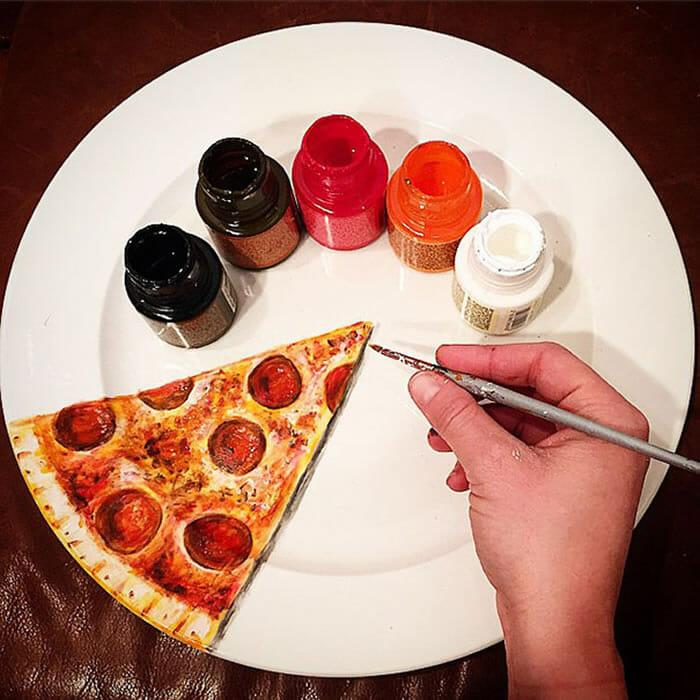 11 Desenhos hiper-realistas feitos em pratos que parecem comida de verdade