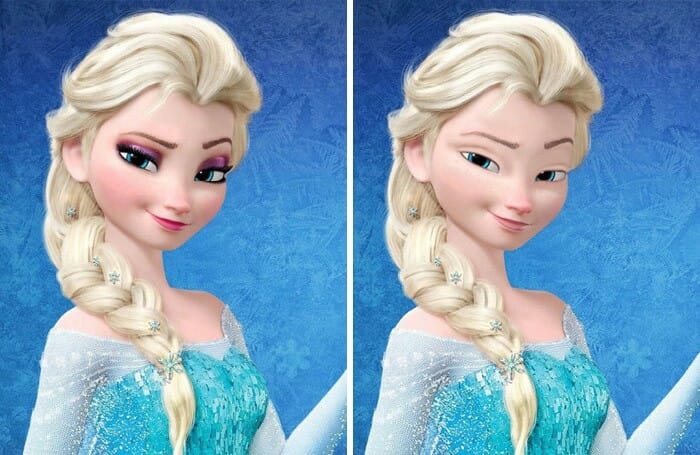 princesas da Disney sem maquiagem