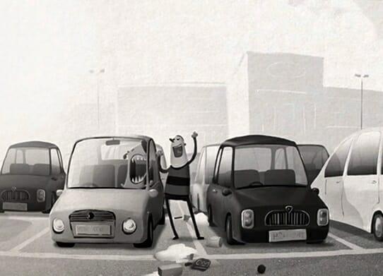 Você precisa assistir Carpark: Uma divertida animação com dois cães e um homem desesperado