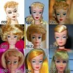 A evolução da Barbie de 1959 até 2015